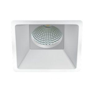 Projector quadrado 88x88 (com lâmpada ligeiramente recolhida)