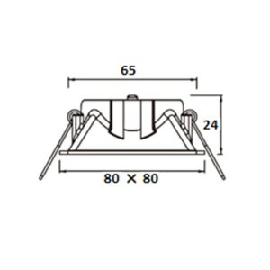 Projector quadrado 80x80