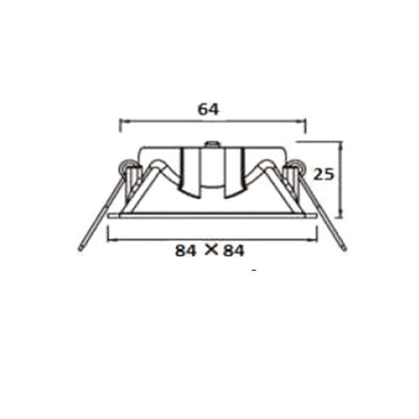 Projector quadrado 84x84 com vidro
