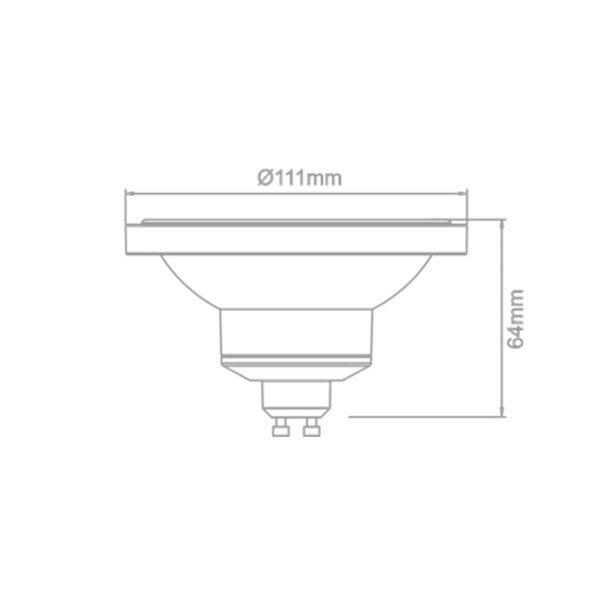 Lâmpada AR111 13W GU10 com Dimmer