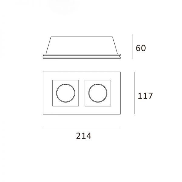 Quadrado duplo 214x117