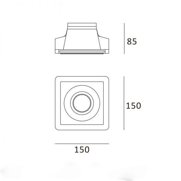 Redondo quadrado 150x150